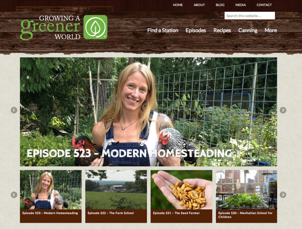 Jessi Bloom featured on the Modern Homesteading episode of Growing a Greener World.